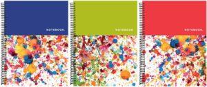 A&G Τετράδιο Color Splash Σπιράλ 17x25 2 Θεμάτων 60 Φύλλων-3 Χρώματα 1Τμχ (15219)