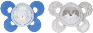 Chicco Πιπίλα Lumi Μπλε 2Τμχ Με Θήκη-2 Σχέδια (74935-42)