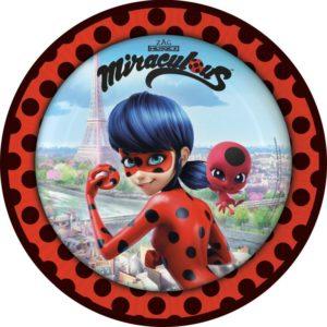 Πιάτα Miraculous Ladybug 23cm-8Τμχ (M9902873)