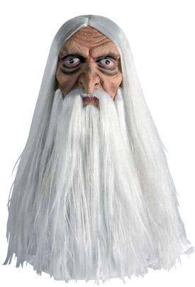 Μάσκα Λάτεξ Μάγου Με Άσπρα Μαλλιά (73311)