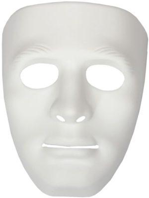 Clown Μάσκα Πλαστική Άσπρη (70618)