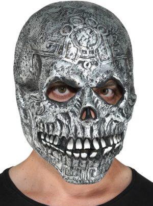 Clown Μάσκα Latex Σκελετός Ασημί (72561)