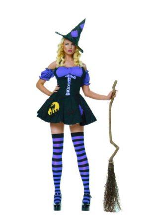 Μάγισσα Μωβ Με Καπέλο & Κάλτσες (71509)