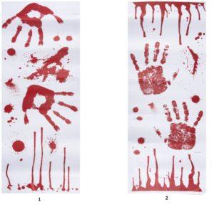 Clown Αξεσουάρ Sticker Sheet Bloody-2 Σχέδια (72044)