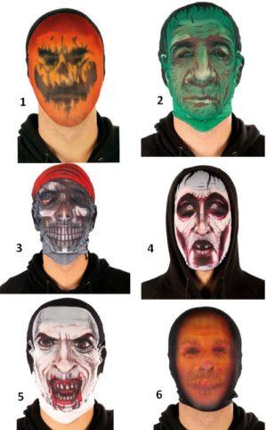 Clown Μάσκες Προσώπου Κάλτσα-6 Σχέδια (72425)