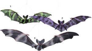 Clown Αξεσουάρ Decoration Flying Bat-3 Σχέδια (72134)