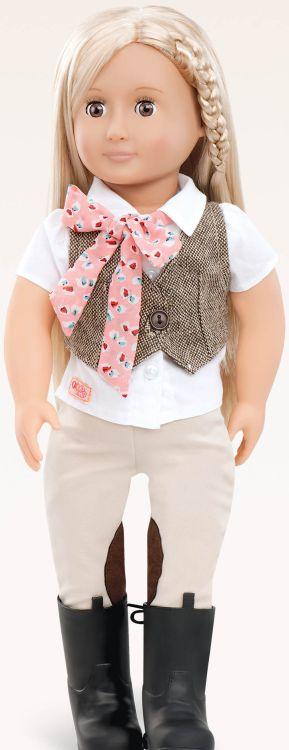 Our Generation Kούκλα Leah w/Tweed Vest (BD31062Z)