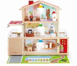 Hape Happy Family Ξύλινο Κουκλόσπιτο Mansion (E3405Α)
