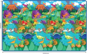 Sun Ta Πατάκι Δαπέδου Roll Mat-Dino World (3074R(P))