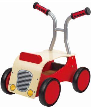 Hape Push & Pull Ξύλινη Περπατούρα Little Red Rider (E0374A)