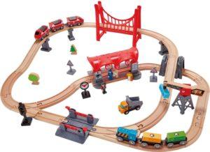 Hape Railway Ξύλινο Busy City Rail Set (E3730A)