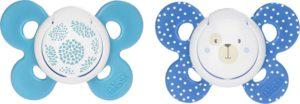 Chicco Πιπίλα Σιλικόνης Μπλε 6-16Μ+ 2Τμχ Με Θήκη (74933-21)