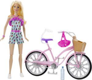 Barbie Σετ Ποδήλατο & Κούκλα (FTV96)