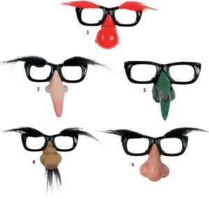 Γυαλιά Με Μύτη & Φρύδια-5 Σχέδια (73486)