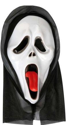 Clown Μάσκα Φάντασμα Με Κουκούλα & Γλώσσα Έξω (71819)
