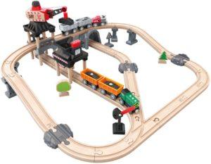 Hape Railway Ξύλινο Mining Loader Τρένο Set (E3756A)