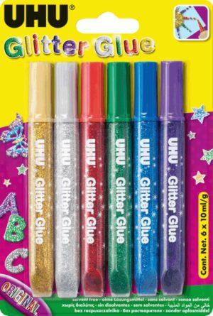 UHU Glitter Glue 6x10ml (39017)