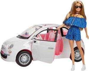 Barbie Fiat 500cc & Κούκλα (FVR07)
