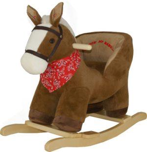 High Hope Κουνιστό Αλογάκι Pony Καφέ Με Ήχο (JR291-BROWN)