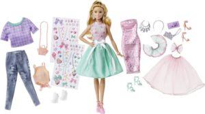Barbie Fashion Σετ Κούκλα & Ρούχα (DVJ64)