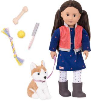 Our Generation Kούκλα Leslie & Σκυλάκι (BD31201Z)