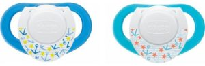 Chicco Πιπίλα Με Κρίκο Σιλικόνη Physio Μπλε 6-16Μ-2Τμχ (C20-74832-21)