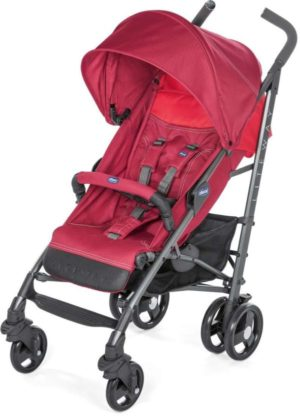 Chicco Καρότσι Lite Way 3 Top Με Μπάρα Προστασίας-Red Berry (O06-79595-85)