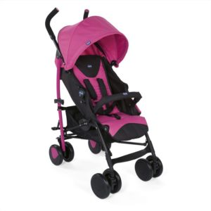 Chicco Καρότσι Echo Complete Με Μπάρα Προστασίας-Deep Pink (79431-62)