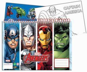 Avengers Μπλοκ Ζωγραφικής Α4+Stickers (337-27416)