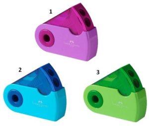 Faber Castell Ξύστρα Sleeve Διπλή Δίχρωμη-3 Χρώματα (12309015)