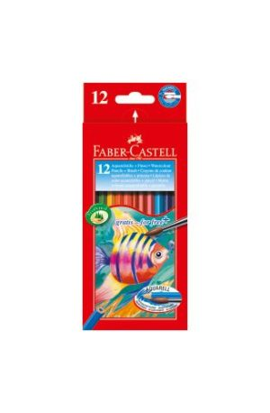 Faber Castell Ξυλομπογιές Ακουαρέλας 12Τμχ & Πινέλο (12302903)