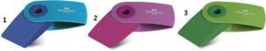 Faber Castell Γόμα Mini Sleeve Δίχρωμη-3 Χρώματα (12308351)