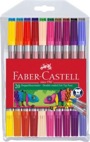 Faber Castell Μαρκαδόροι Διπλοί 20Τμχ (12309403)
