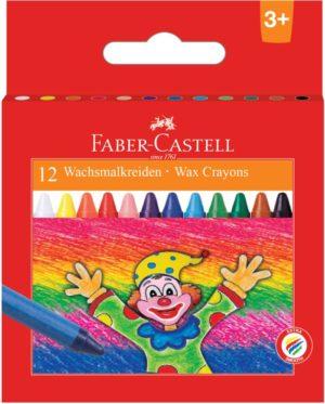 Faber Castell Κηρομπογιές 12Τμχ (12309360)