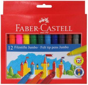 Faber Castell Μαρκαδόροι Χοντροί Σετ 12Τμχ (12308676)