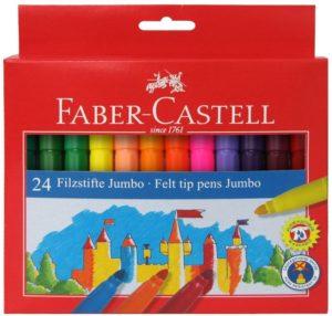 Faber Castell Μαρκαδόροι Χοντροί Σετ 24Τμχ (12308677)