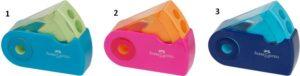 Faber Castell Ξύστρα Sleeve Διπλή Δίχρωμη-3 Χρώματα (12309830)