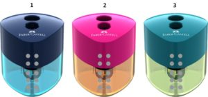 Faber Castell Ξύστρα Διπλή Auto-3 Χρώματα (12309832)