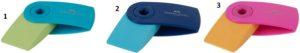 Faber Castell Γόμα Mini Sleeve Δίχρωμη-3 Χρώματα (12309814)