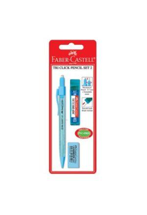 Faber Castell Μηχανικό Μολύβι & Γόμα & Μύτες-3Τμχ (12308046)