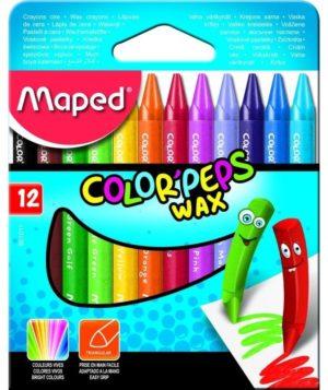 Maped Κηρομπογιές Wax-12Τμχ (861011)