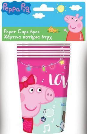 Peppa Pig Ποτήρια Χάρτινα-6Τμχ (0482431)