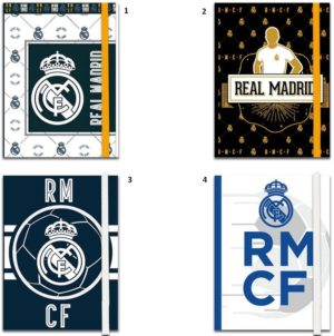 Real Madrid Σημειωματάριο Με Λάστιχο 10x13