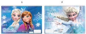 Frozen Μπλοκ Ζωγραφικής 23x33 40 Φύλλων Με Αυτοκόλλητα Στένσιλ-2 Σχέδια (0562228)