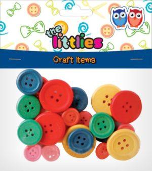 The Littlies Κουμπιά Ξύλινα Διάφορα Χρώματα (0646606)
