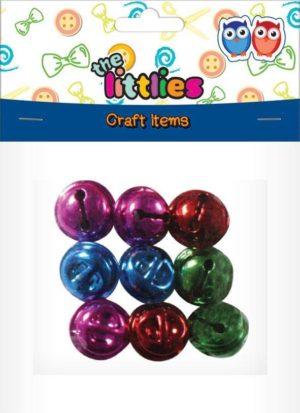 The Littlies Κουδουνάκια Χρωματιστά 11mm-9Τμχ (0646609)