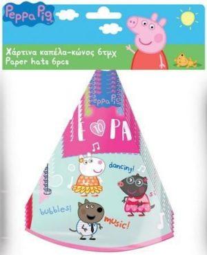 Peppa Pig Καπέλο Πάρτυ Κώνος-6Τμχ (0482432)