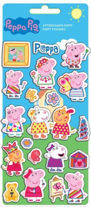 Peppa Pig Αυτοκόλλητα Puffy 10x22cm (0482451)