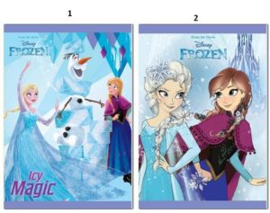 Frozen Τετράδιο Καρφίτσα 17X24 40 Φύλλων-2 Σχέδια (0562241)