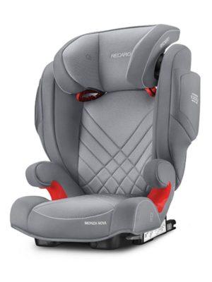 Recaro Κάθισμα Αυτοκινήτου Monza Nova 2 Seatfix Aluminium Grey (61512150366)